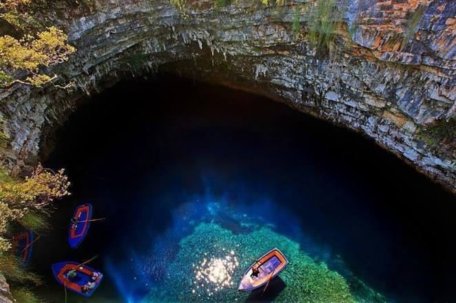 melissani mağarası nerede