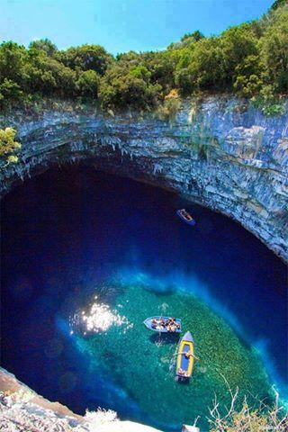 melissani mağarası