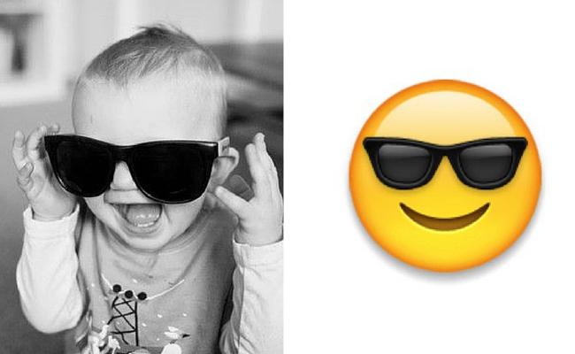 gözlüklü emoji