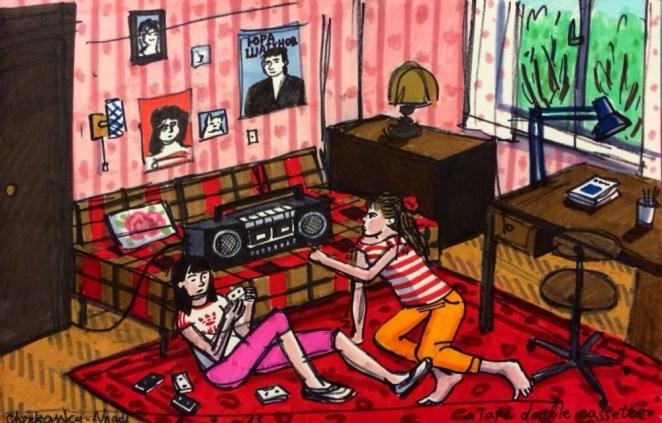 çift kaset çalar