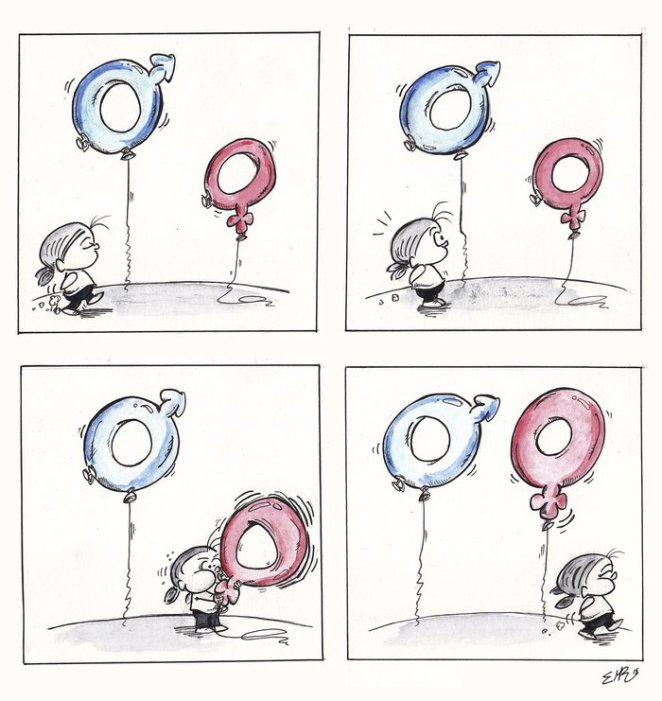 Cinsiyet Eşitsizliğini Gösteren Karikatürler 1