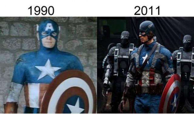 Filmlerin önceleri sonraları captain america