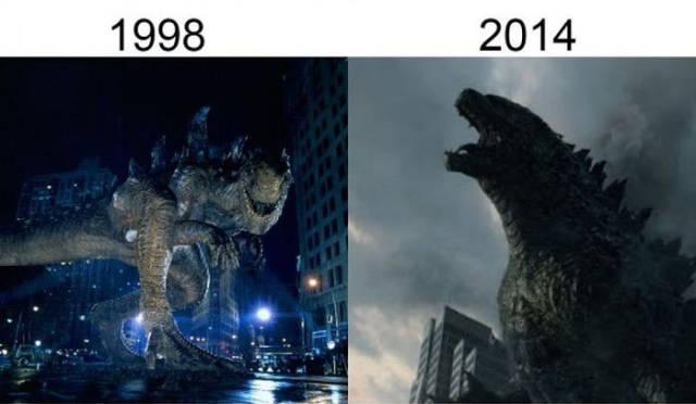 Filmlerin önceleri sonraları godzilla