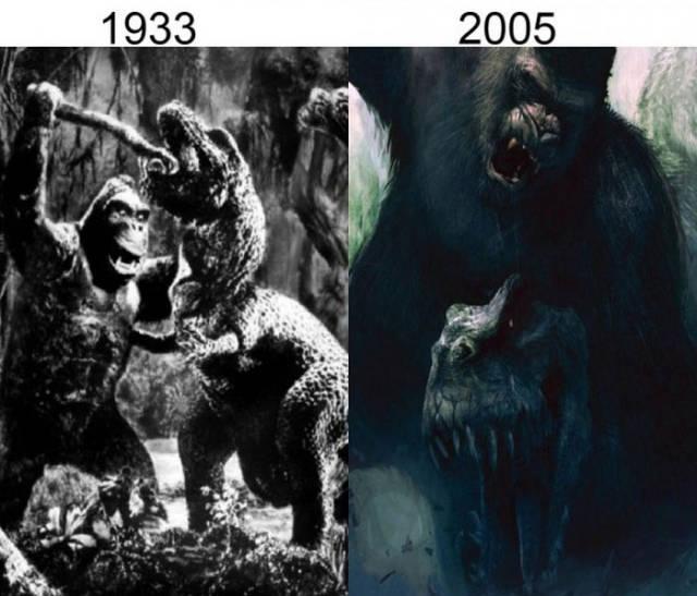 Filmlerin önceleri sonraları king kong