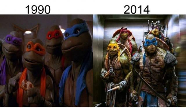 Filmlerin önceleri sonraları ninja kaplumbağalar