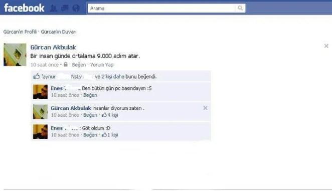 Komik Facebook Durumları 2