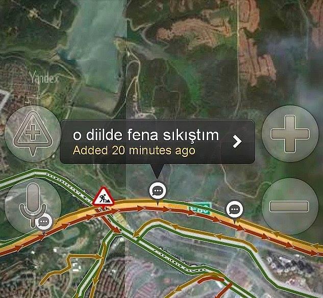 Yandex haritalara eklenmiş komik notlar 13