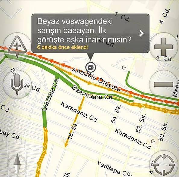 Yandex haritalara eklenmiş komik notlar 2