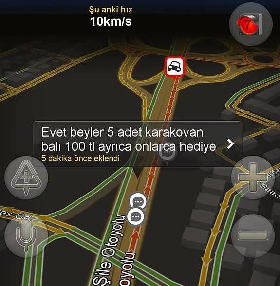 Yandex haritalara eklenmiş komik notlar 7