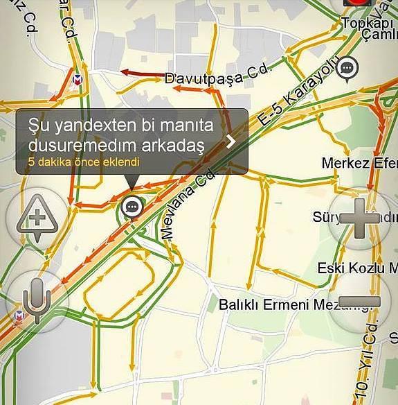 Yandex haritalara eklenmiş komik notlar 8