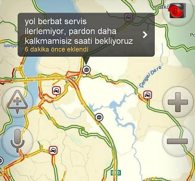 Yandex haritalara eklenmiş komik notlar