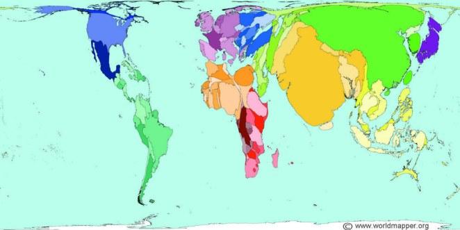 ülkeler nüfusuna göre yüz ölçümüne sahip olsa
