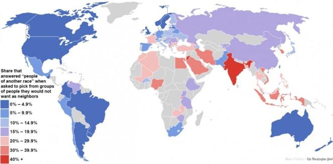 ırkçılık haritası
