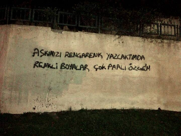 aşk duvar yazısı