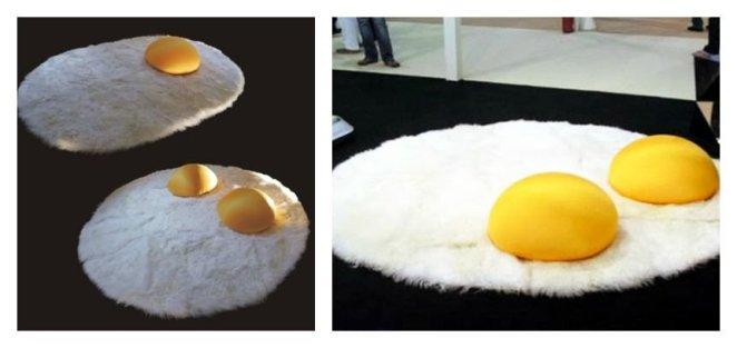 yumurta şeklinde halı