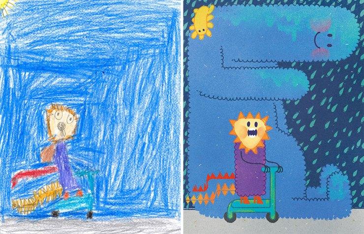 çocuk çizimleri canavarlar 2