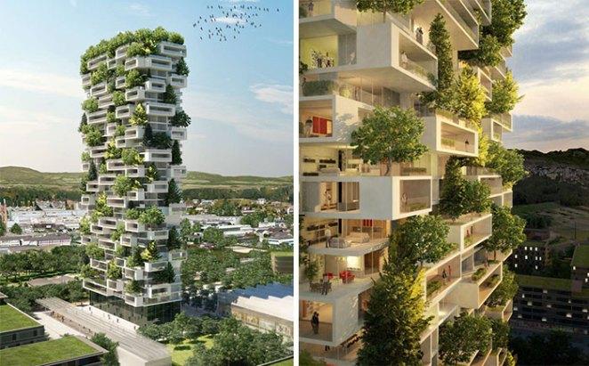 bitkilerle sarılmış apartman