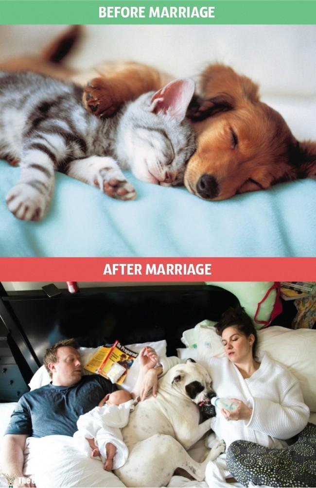 evlilik öncesi ve sonrası