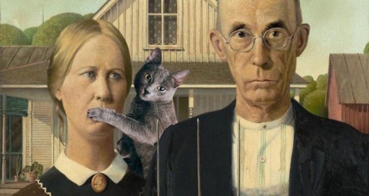 kedi-fotoşop-klasik-fotoğraflar