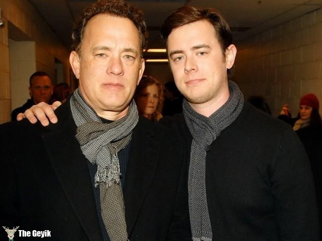 Tom Hanks and Colin Hanks