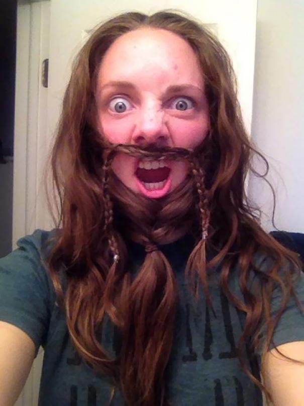 saçlarını sakal yapan sakallı kadınlar 4