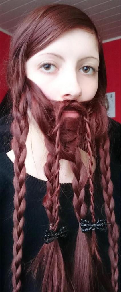 saçlarını sakal yapan sakallı kadınlar 6
