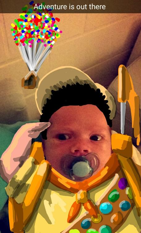 Oğlunu Snapchat'te favori karakterlerine dönüştüren baba 2