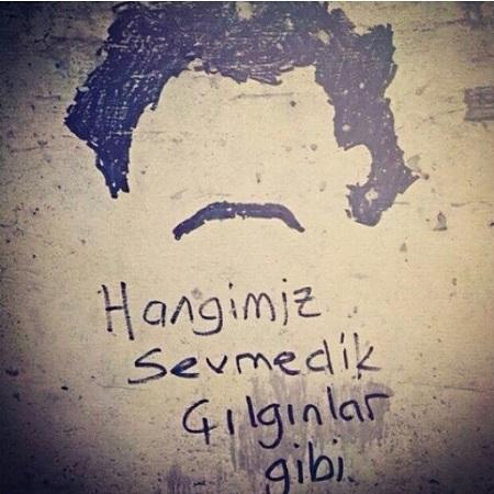 aşk duvar yazı