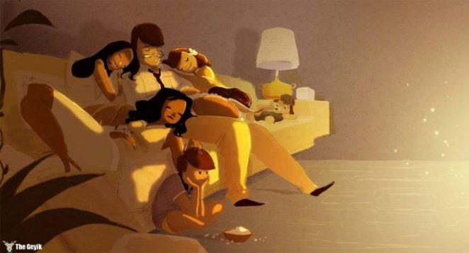 Aile İllüstrasyonları 13