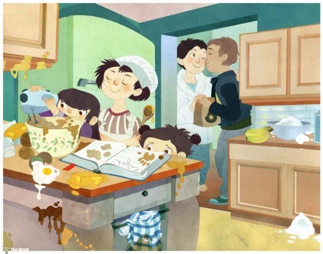 Aile İllüstrasyonları 16