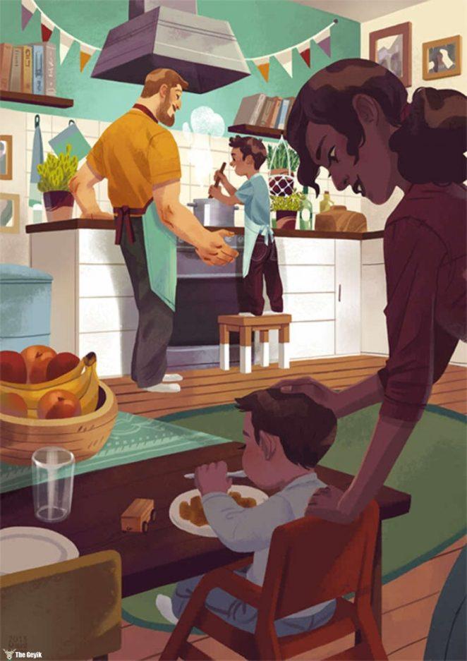 Aile İllüstrasyonları 5