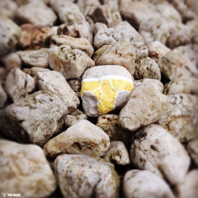 Andre Levy çıplaklık karşıtı taş boyama 7