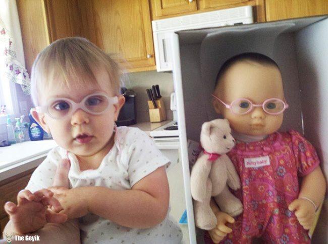 oyuncağına benzeyen bebekler 13