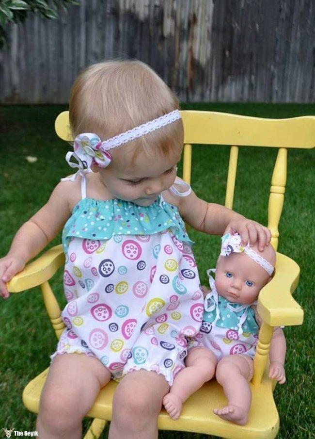 oyuncağına benzeyen bebekler 14