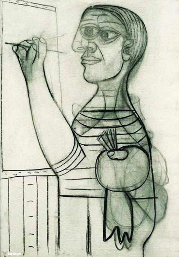 Picasso'nun kendini cizdigi resimler 56