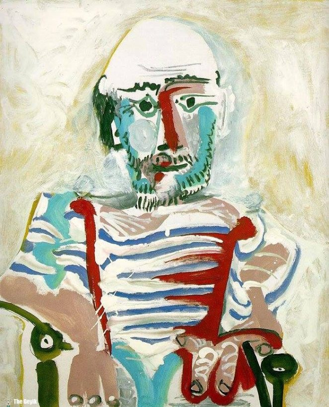 Picasso'nun kendini cizdigi resimler 83