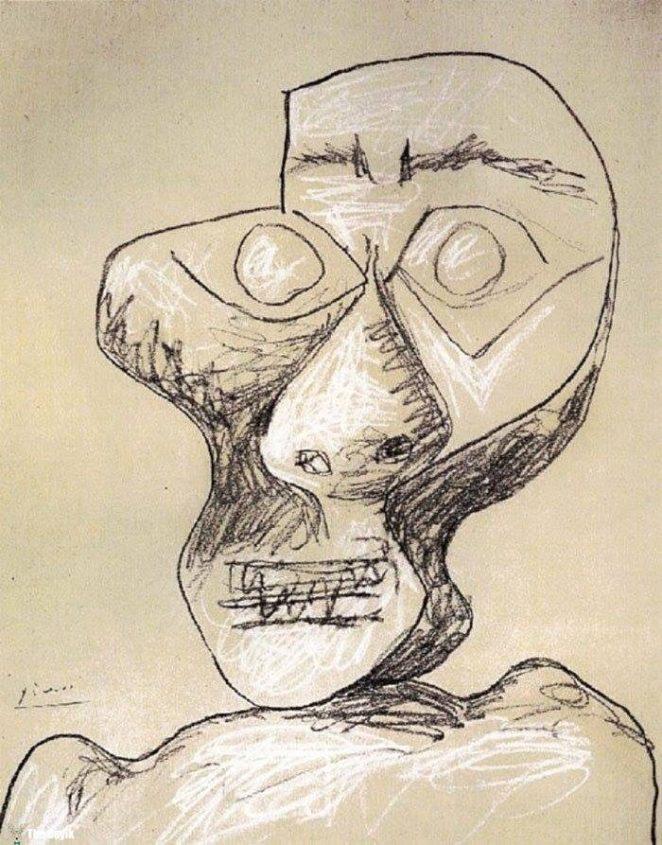 Picasso'nun kendini cizdigi resimler 90-2