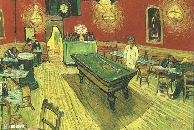 Van Gogh kulağını kesmeden 3 ay önce Gece Kahvesi (Night Cafe) isimli bu eserini çizmişti, 1888
