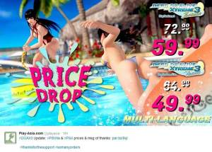 dead or alive xtreme 3 play-asia price drop