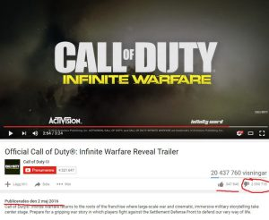 cod infinite warfare youtube hate