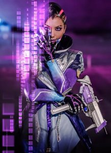 pion kim sombra cosplay overwatch front