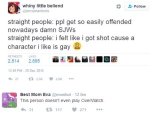 sjw vs straight people tracer overwatch