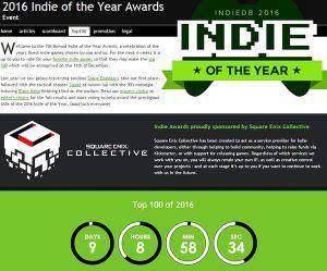 top 100 indies of 2016