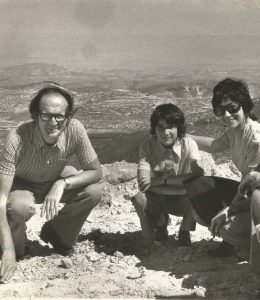 French Hill, Jerusalem, Israel in the 1970s. Sam, Ilana and Sarita with two friends