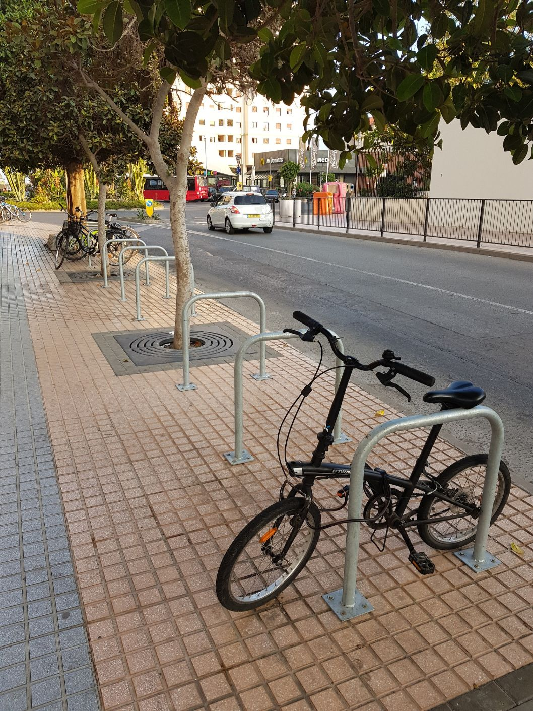 New Bicycle Racks at Nuffield Pool and Europort Road   The