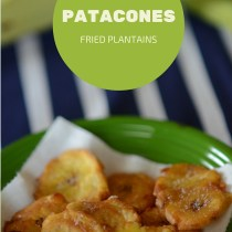 patacones - fried plantains