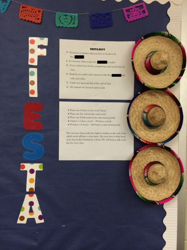 Fiesta Days Classroom Management Plan