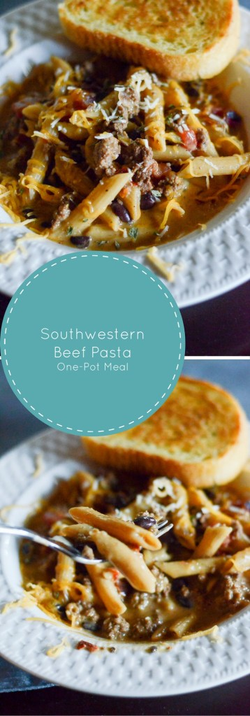 Southwestern Beef Pasta - One-Pot Meal - The Gifted Gabber