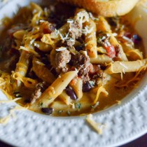 One Pot Southwestern Beef Pasta - The Gifted Gabber