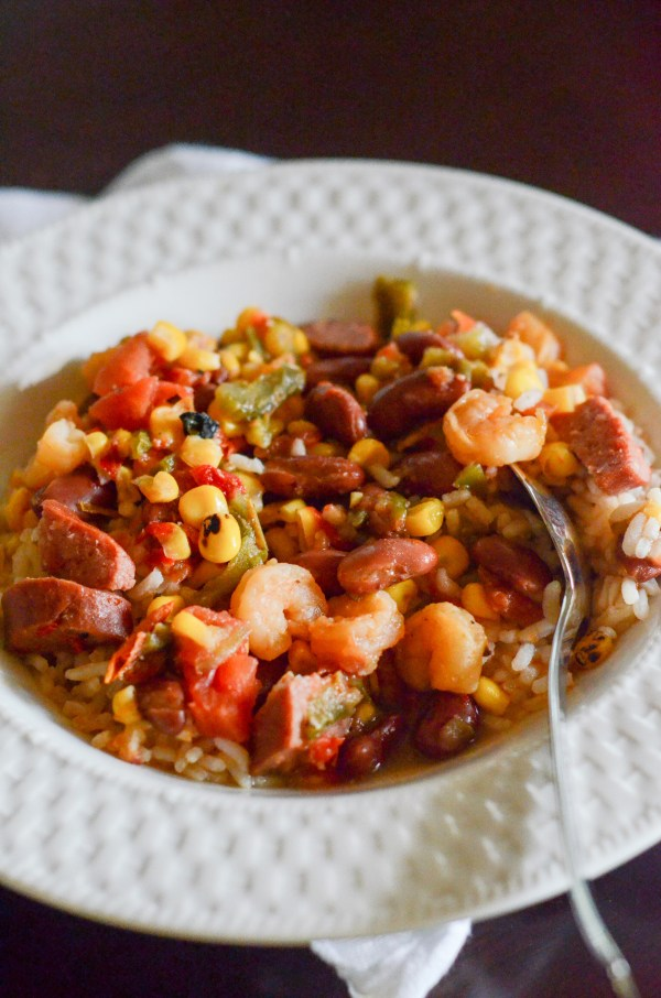 This tasty Creole Sausage and Shrimp Soup is perfect for a weeknight and is impressive enough for guests. - The Gifted Gabber